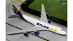 Boeing Atlas Air Ref: (with stand) Diecast Model Aircraft, Diecast Models, Diecast Airplanes, Model Airplanes, Atlas Air, Boeing 747 400, Mig 21, Passenger Aircraft, Cargo Airlines
