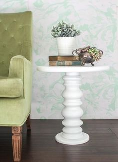Easy Diy Side Table Made From Something Unexpected. Diy Home Decor Rustic Inexpensive ...
