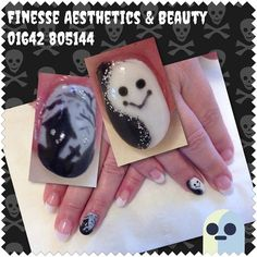 Haunted House & Cute Ghost by finessebeauty - Nail Art Gallery nailartgallery.nailsmag.com by Nails Magazine www.nailsmag.com #nailart