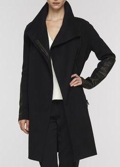 ec29dc07895 vince - asymmetric mock neck jacket Vince Leather Jacket