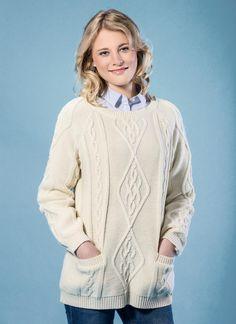 cd851a4053 Tara Aran Crew Neck Sweater - The Tara Aran sweater is a traditional yet  contemporary sweater