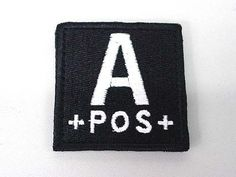 A POS Blood Type Identification Velcro Patch Black by AirSoft. $6.99. FEATURES: A POS blood type identification square shape patch with velcro backing. Ready to applied on BDU, combat vest, cap or backpack with loops end. Great accessory for outdoor dressing and combat gears. DETAILS: Color - Black Weight - 3g Size - 50mm x 50mm
