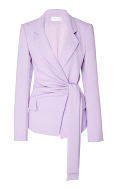 Side Draped Blazer by Christian Siriano Blazer Fashion, Hijab Fashion, Fashion Dresses, Christian Siriano, Mode Batik, Look Fashion, Womens Fashion, Fashion Design, Work Chic