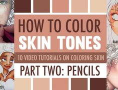 How to Color Skin Tones | Part Two: Skin Coloring Techniques with Pencils