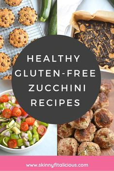 These Healthy Gluten Free Zucchini Recipes will give you plenty of easy and lighter ways to cook zucchini from breakfast to dinner to dessert! Gluten Free Zucchini Recipes, Healthy Zucchini, Healthy Gluten Free Recipes, Sugar Free Recipes, Healthy Dessert Recipes, Desserts, Healthy Low Calorie Meals, Low Calorie Recipes, Healthy Breakfasts