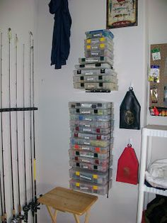 Kayak Fishing Gear It's Important To Me: Organizing Fishing Tackle Without A Boat Fishing Rod Rack, Fishing Rod Storage, Kayak Fishing, Fishing Tackle, Fishing Tips, Fishing Stuff, Fishing Boats, Kayaking Tips, Make A Boat