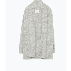 Zara Twist Yarn Cardigan (68 BRL) ❤ liked on Polyvore featuring tops, cardigans, jackets, zara, white cardigan, zara cardigan, cardigan top, white top and twist top