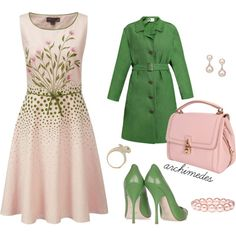 .:* L - Easter Sunday indeed. I have a thing for pink & green [created by archimedes16 on Polyvore]