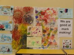 Mark Making Display, Art and Colour, classroom displays, display, colour, creative, paint, marks, Early Years (EYFS), KS1 & KS2 Primary Teaching Resources