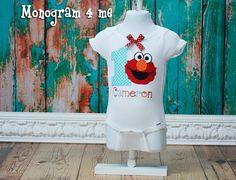 Girls Elmo 1st Birthday Onsie Bodysuit First by monogram4me