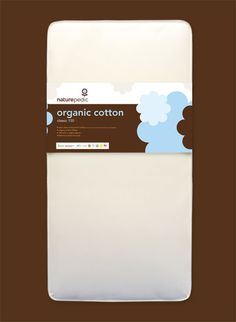 """organic Nursery : Naturepedic """"No Compromise"""" Waterproof 150 Coil Crib Mattress Baby Crib Mattress, Baby Cribs, Organic Baby, Organic Cotton, Eco Baby, Baby Safe, Baby Registry, Brand You, Cards Against Humanity"""