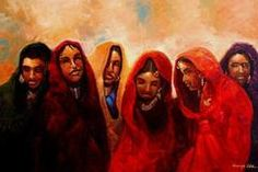 Sun Sisters (West African Fulani Women) by Kanayo Ede | The Black Art Depot