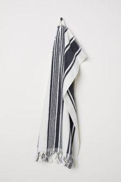 Striped Hand Towel - Dark gray white striped - Home All 7dca3e9e3d58
