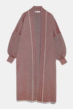 Pajama Suit, Zara Home Stores, Long Knit Cardigan, Kimono, Long Blazer, Mode Hijab, Blazer Fashion, Zara Tops, Long Sweaters