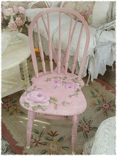 Like the idea of old painted chairs - could also have them in our house afterwards! :)
