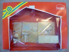 Vintage Dolls House Boxed Lundby Bathroom Set - 9884