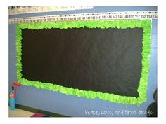 Peace, Love, and First Grade: Making a Scrunchy Border