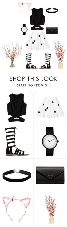 """Estella Star- Cute Outfit"" by lockwoodzaki ❤ liked on Polyvore featuring Dune, Miss Selfridge, Balenciaga and claire's"