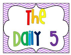 FREE Daily 5 Signs