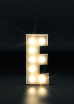 Initials in Stage Lights - Personalised name letters original CGI artwork. Dance, Drama, Broadway, Musical Theatre UNFRAMED print A4 or 5x7 on Etsy, $14.08