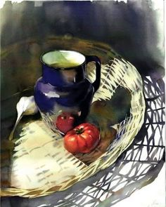 51 ideas fruit basket painting still life art Still Life Drawing, Painting Still Life, Still Life Art, Oil Painting Pictures, Pictures To Paint, Watercolor Fruit, Watercolor Paintings, Watercolours, Oil Paintings