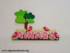 www.unpocodetodo.org - Cartel de pajaritos de Ainara - Carteles - Goma eva Foam Sheet Crafts, Foam Crafts, Foam Sheets, Hula, Yoshi, Diy, Ideas, Toddler Sunday School, Romantic Gifts