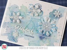 Hello there! It's Yainea here with a Christmas card featuring the gorgeous Snowflakes stamps and dies. This set is perfect to create a ...