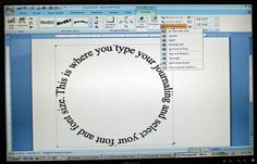 Journal in a circle with MS Word -- tutorial