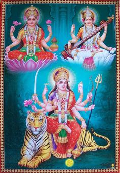 Navratri Puja will help you overcome all your negativities. Flourish with wealth on this Navratri by offering Homam to Lakshmi, Saraswathi & Durga. Maa Durga Image, Durga Maa, Shiva Shakti, Durga Images, Lakshmi Images, Krishna Images, Indian Goddess, Goddess Lakshmi, Navratri Puja