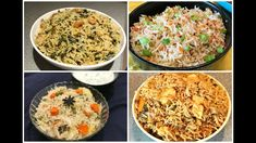 Quick and Easy Rice Recipes - Part 2 | One pot meal | Lunch box recipes | Rice Varieties - YouTube