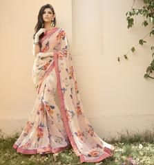 Light Pink Color Georgette Party Wear Sarees :  Shehnaz Collection  YF-42393