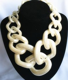 #fashion #moda #accessories Chunky choker cha... is now in stock. http://modatendone.co.uk/products/chunky-choker-charm-necklace-statement-big-chunky-rings-costume-vintage-jewelry?utm_campaign=social_autopilot&utm_source=pin&utm_medium=pin