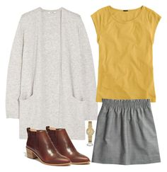 """""""Autumn Gold and Grey"""" by tjmcd ❤ liked on Polyvore featuring Madewell and J.Crew"""