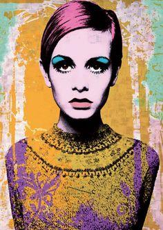 Twiggy – Warhol style | digital scrapbook inspriration | Pinterest ...