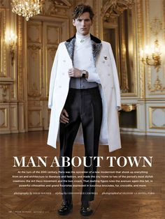The Parisian Eye–Captured against the beautiful urban backdrop of Paris, Bananas stunner Bastiaan Ninaber is the epitome of timeless chic in the September issue of Robb Report. David Roemer photographs the impeccably polished Bastiaan in Man About Town, Mens Fashion, Fashion Outfits, Mode Style, Mens Clothing Styles, Parisian, Marie, Ideias Fashion, Menswear
