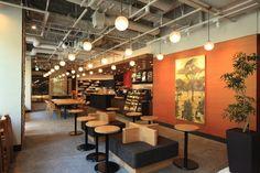 Starbucks Concept Store Looks Like Traditional Japanese Teahouse Interior Design Games, Modern Interior Design, Interior Ideas, Coffee Shop Design, Cafe Design, Starbucks Coffee, Bar Deco, Cafe Seating, Arquitetura
