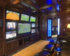 """Man Cave Design - there's no such thing as """"too many"""" TVs"""