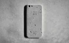 The Luna Skin for the iPhone is made from concrete