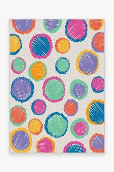 Ruggable - Washable Rug Cover & Pad | Freckles Multicolor Rug | Stain-Resistant | Ruggable | 5'x7'
