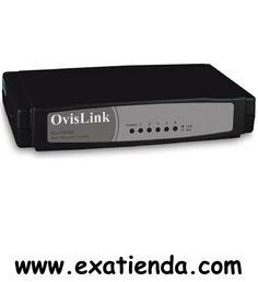 Ya disponible Switch Ovislink evofsh5c   (por sólo 17.89 € IVA incluído):   - Estándar: - IEEE 802.3 10Base-T - IEEE 802.3u 100Base-TX - IEEE 802.3u Nway auto-negotiation - IEEE 802.3x Full-Duplex y Flow Control  -Protocolo: CSMA/CD -Topología: En estrella. -Modo de transmisión: Store and Forward. -Configuración automática: Plug and Play. -Memoria: 512 Kb on-chip para buffer de memoria/MAC. -Distancia de cable: 100 m. -Tamaño: 140x85x30 mm. -Peso: 135 g. -Fuente de