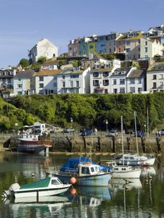 size: Photographic Print: Brixham Harbour, Devon Poster by David Hughes : Artists Places To Travel, Places To Visit, David Hughes, Marina Beach, Devon England, Devon And Cornwall, Beach Pool, Holiday Destinations, Holiday Travel