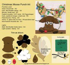 Alex's Creative Corner: Moose Christmas Card