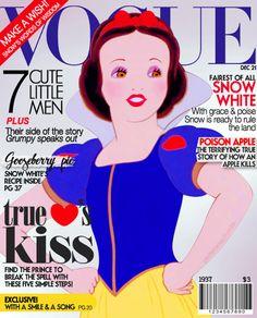 Disney Princesses As Magazine Cover Models (Snow White for Vogue and Prince Charming for Men's Vogue) as seen: http://geekologie.com/2012/01/disney-princes-as-mens-magazine-cover-mo.php