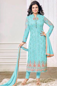 Salwar Kameez Neck Designs, Ladies Salwar Kameez, Indian Suits, Indian Dresses, Indian Wear, Saree Dress, I Dress, Sari, Tight Dresses