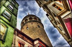 colorful.. Galata Tower, Istanbul, Turkey