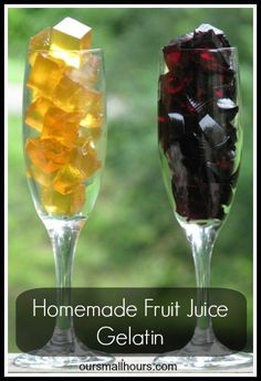 Homemade Fruit Juice Gelatin -