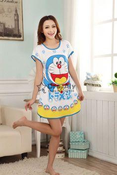 c8564300fe69e Free Shipping Summer Sleepwear Animal Printing Dress For Women Home  clothing pyjamas girls s Casual Dresses