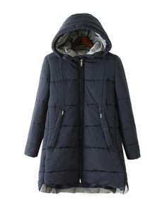 Hooded Pure Color Coat