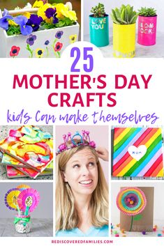 Need some easy Mother's Day crafts your kids can make themselves? We've collected the best DIY gifts. There's loads to choose from. Check out our ideas. Diy Gifts For Mom, Homemade Gifts, Parent Gifts, Family Gifts, Diy Projects For Kids, Crafts For Kids, Presents For Grandma, Footprint Art, Mothers Day Crafts