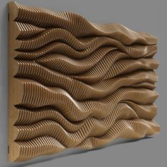 parametric wall 06 model max fbx dxf dwg 3 in 2020 Wooden Wall Art, Wooden Walls, Wood Sculpture, Wall Sculptures, Panneau Mural 3d, Wood Wall Design, Pavilion Design, Parametric Design, 3d Wall Art